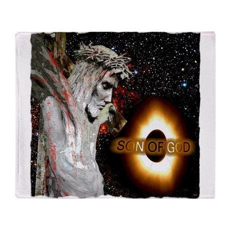 Jesus Christ Son Of God art illustration Throw Bla