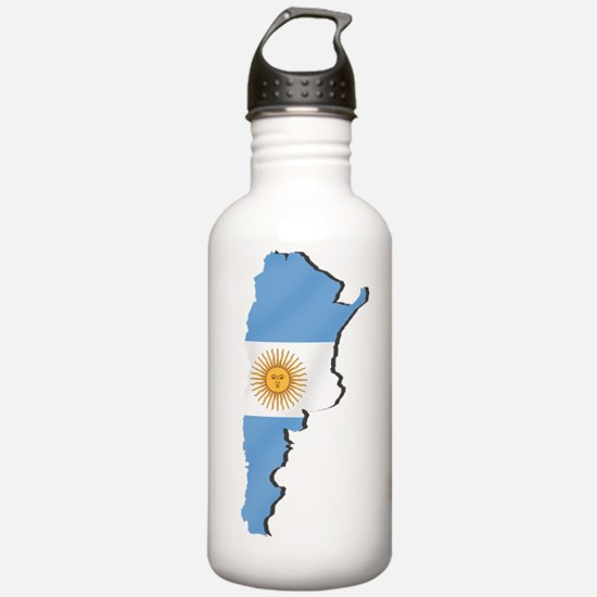 Argentina Flag Map Water Bottle