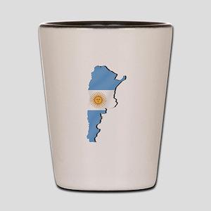 Argentina Flag Map Shot Glass
