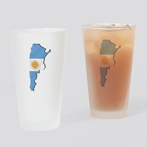 Argentina Flag Map Drinking Glass