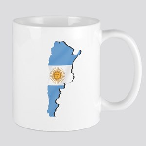 Argentina Flag Map Mug