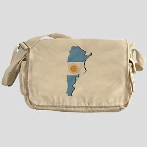 Argentina Flag Map Messenger Bag