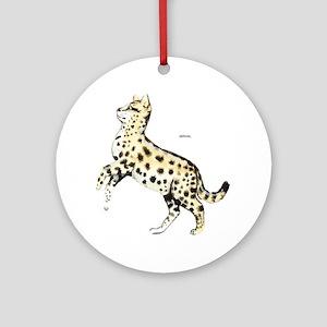 Serval African Wild Cat Ornament (Round)