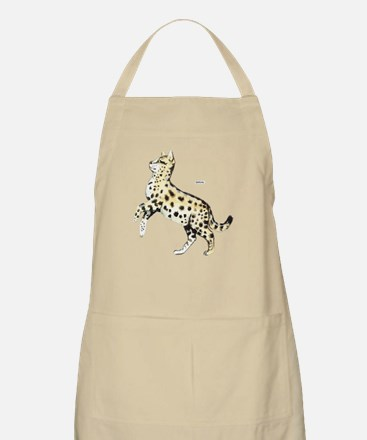 Serval African Wild Cat Apron