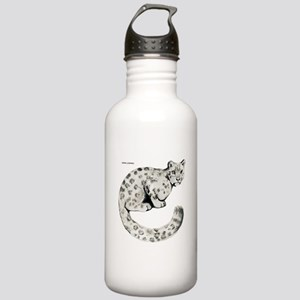 Snow Leopard Cat Stainless Water Bottle 1.0L