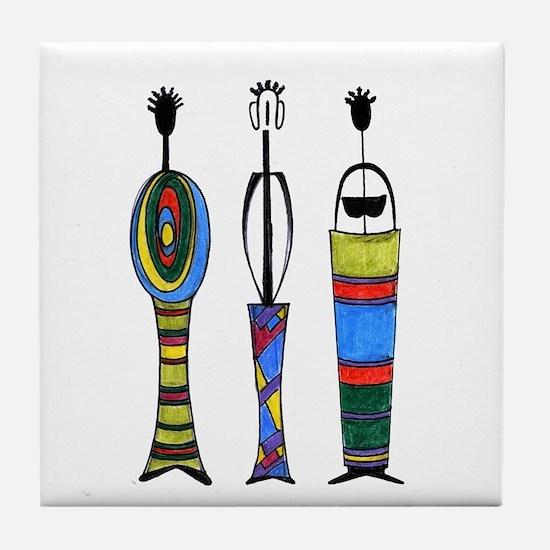 Bahia Ethnic Design Tile Coaster