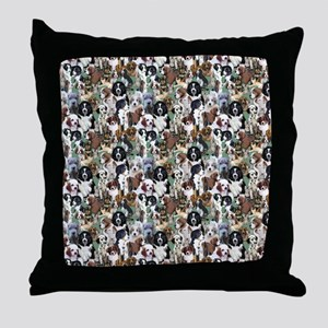 puppies and kittens Throw Pillow