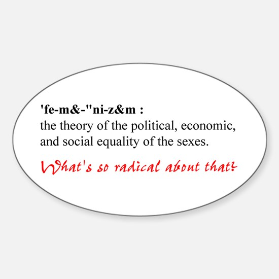Feminism Sticker (Oval)