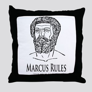 Marcus Rules the Sick Republic Throw Pillow