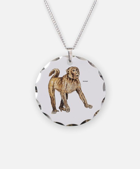 Macaque Monkey Ape Necklace