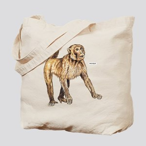 Macaque Monkey Ape Tote Bag