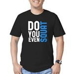 Do you even squat Men's Fitted T-Shirt (dark)