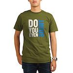 Do you even squat Organic Men's T-Shirt (dark)
