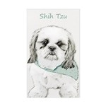 Shih Tzu Sticker (Rectangle 50 pk)