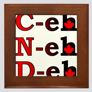 Canada Eh! Funny Canadian Framed Tile