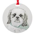 Shih Tzu Round Ornament