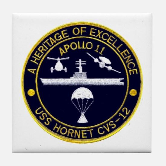 Uss Hornet Apollo 11 Tile Coaster