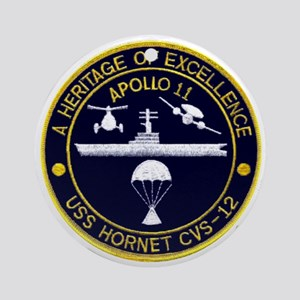 USS Hornet Apollo 11 Ornament (Round)