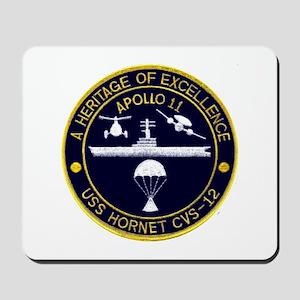 USS Hornet Apollo 11 Mousepad