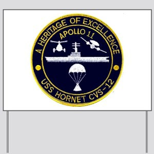 USS Hornet Apollo 11 Yard Sign