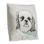 Shih Tzu Burlap Throw Pillow