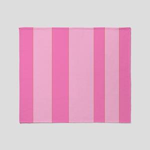 Cute girlie pink stripes Throw Blanket