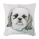 Shih Tzu Woven Throw Pillow