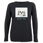 Shih Tzu Plus Size Long Sleeve Tee