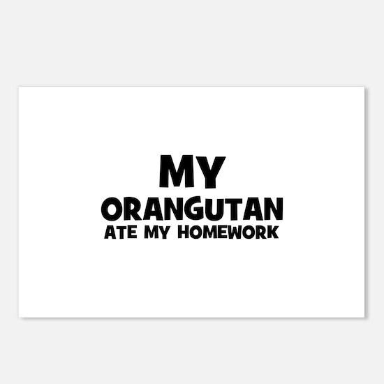 My Orangutan Ate My Homework Postcards (Package of