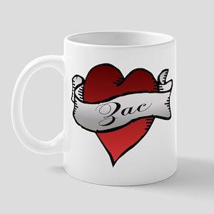 Zac Heart Tattoo Mug