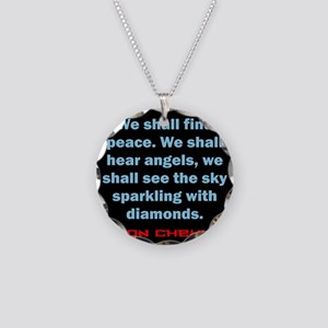 We Shall Find Peace - Anton Chekhov Necklace Circl