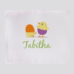 Easter Chick Tabitha Throw Blanket
