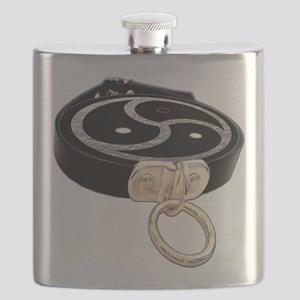 BDSM Emblem and Leather Collar Flask