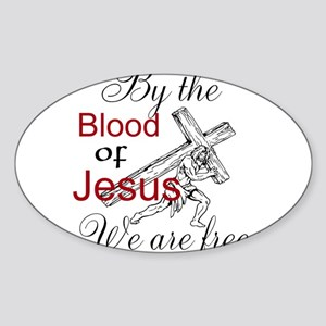 By The Blood Sticker (Oval)