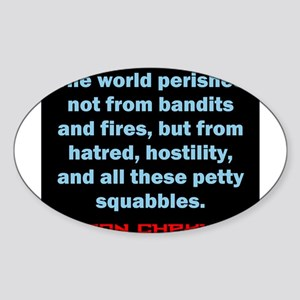 The World Perishes - Anton Chekhov Sticker (Oval)