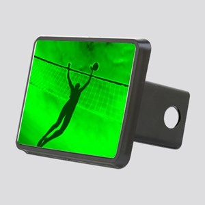 VOLLEYBALL GREEN Rectangular Hitch Cover