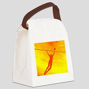 VOLLEYBALL ORANGE Canvas Lunch Bag