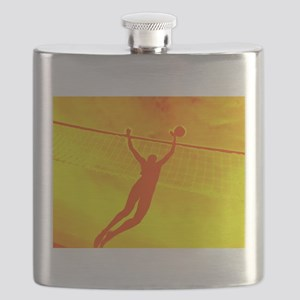 VOLLEYBALL ORANGE Flask