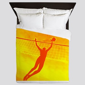 VOLLEYBALL ORANGE Queen Duvet