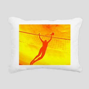 VOLLEYBALL ORANGE Rectangular Canvas Pillow