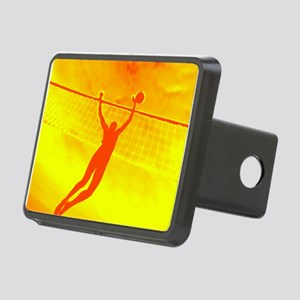VOLLEYBALL ORANGE Rectangular Hitch Cover