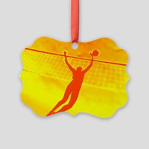 VOLLEYBALL ORANGE Picture Ornament