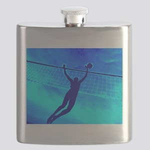 VOLLEYBALL BLUE Flask