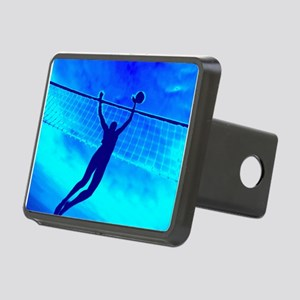 VOLLEYBALL BLUE Rectangular Hitch Cover