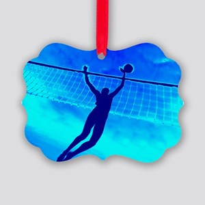 VOLLEYBALL BLUE Picture Ornament