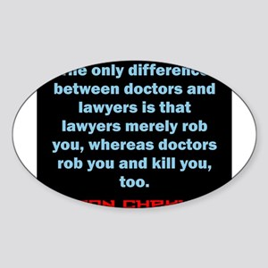 The Only Difference - Anton Chekhov Sticker (Oval)