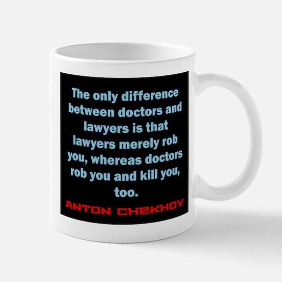 The Only Difference - Anton Chekhov Mug
