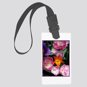 Tulips! Colorful spring flower photo! Luggage Tag