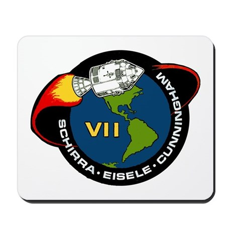 Apollo 7 Mission Patch Mousepad by quatrosales