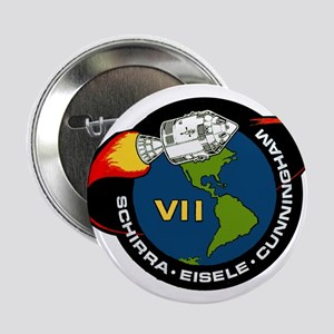 """Apollo 7 Mission Patch 2.25"""" Button"""
